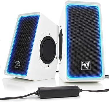 GOgroove Altavoces de Ordenador PC/Altavoces Gaming LED/Set de Altavoces/Sistema Audio Speakers USB para Juegos PC: Amazon.es: Electrónica