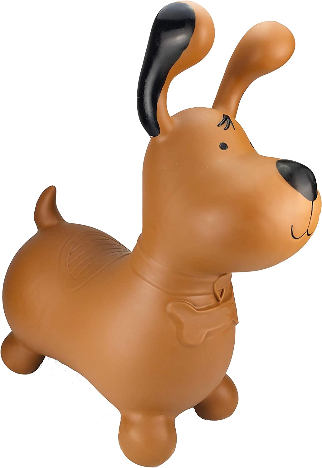 Brown Dog 1 kg Bounce Along Toy HappyHopperz Inflatable Ride On