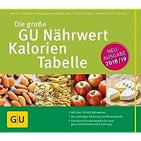 Die große GU Nährwert-Kalorien-Tabelle 2018/19 (GU Tabellenwerk Gesundheit)