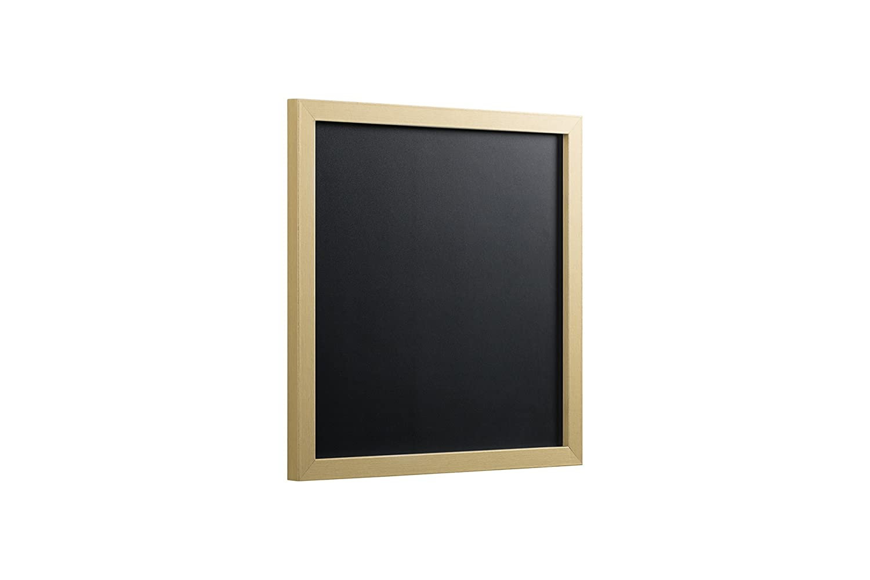 Pizarra de tiza 60 x 40 cm marco MDF Bi-Office Gold /& Silver color plateado