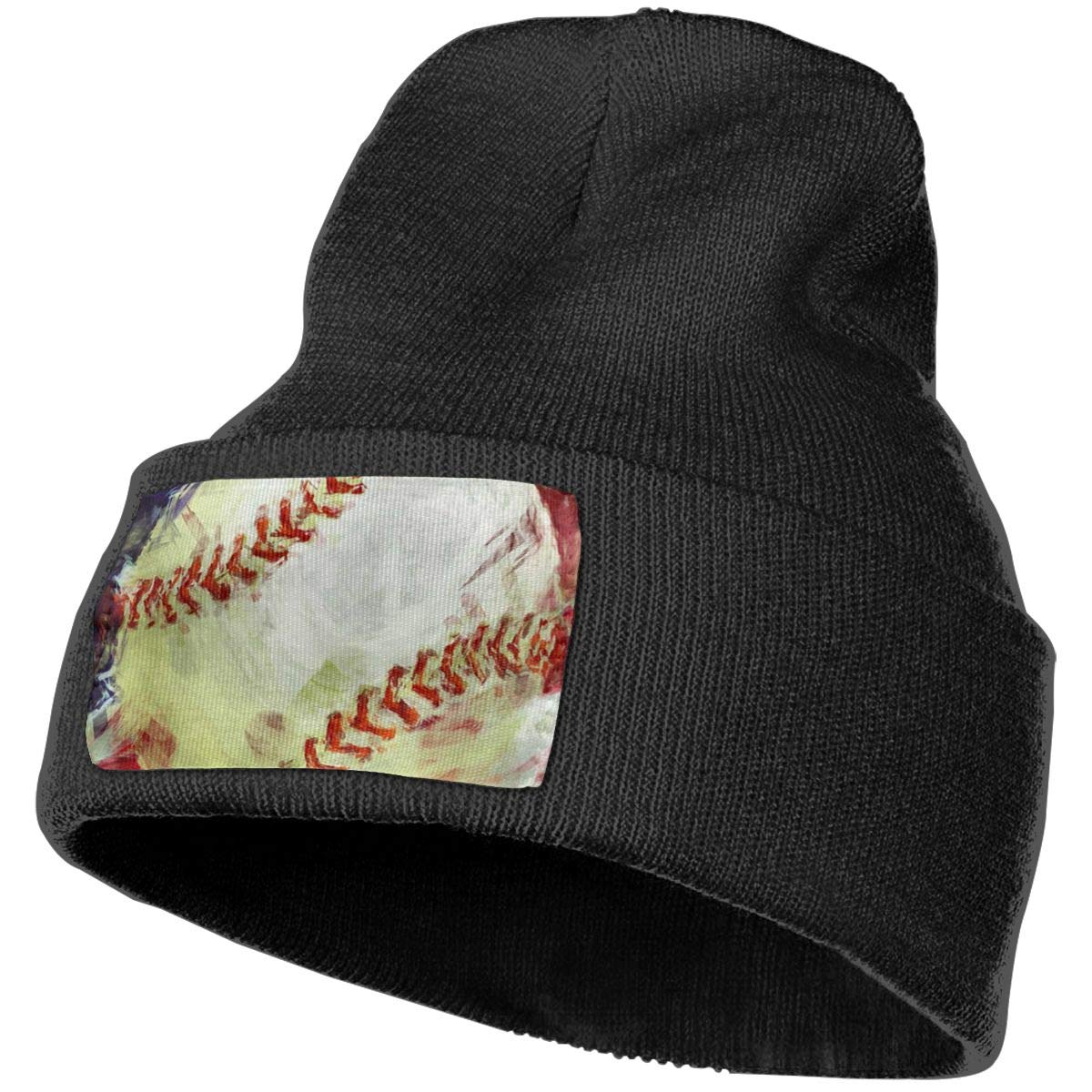 American-Baseball-Abstract Men /& Women Solid Color Knit Beanie Hat Stretchy /& Soft Winter Ski Knit Caps