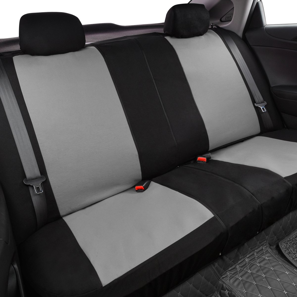 Black with Gray color NEW ARRIVAL CAR PASS Universal fit car Seat Covers with opening holes for headrest and seatbelt,fit for SUV,Car,vehicles,Trunk