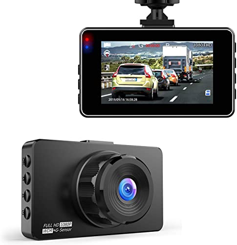 Dash Cam, Hexdeer Dash Camera Recorder FHD 1080P, Car Cam Vehicle DVR with 3 Inch LCD, 170 Wide Angle, Super Night Vision, WDR, G-Sensor, Loop Recording