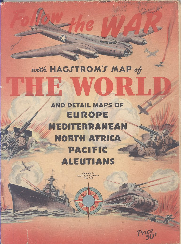 Follow the War with Hagstrom\'s Map of the World and Detail ...