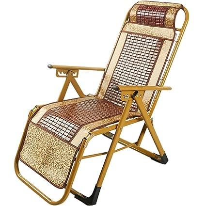 Superbe H Folding Desk Chair Sleeping Lunch Break Summer Mat Bamboo Lounge Chair  Portable Beach Chair