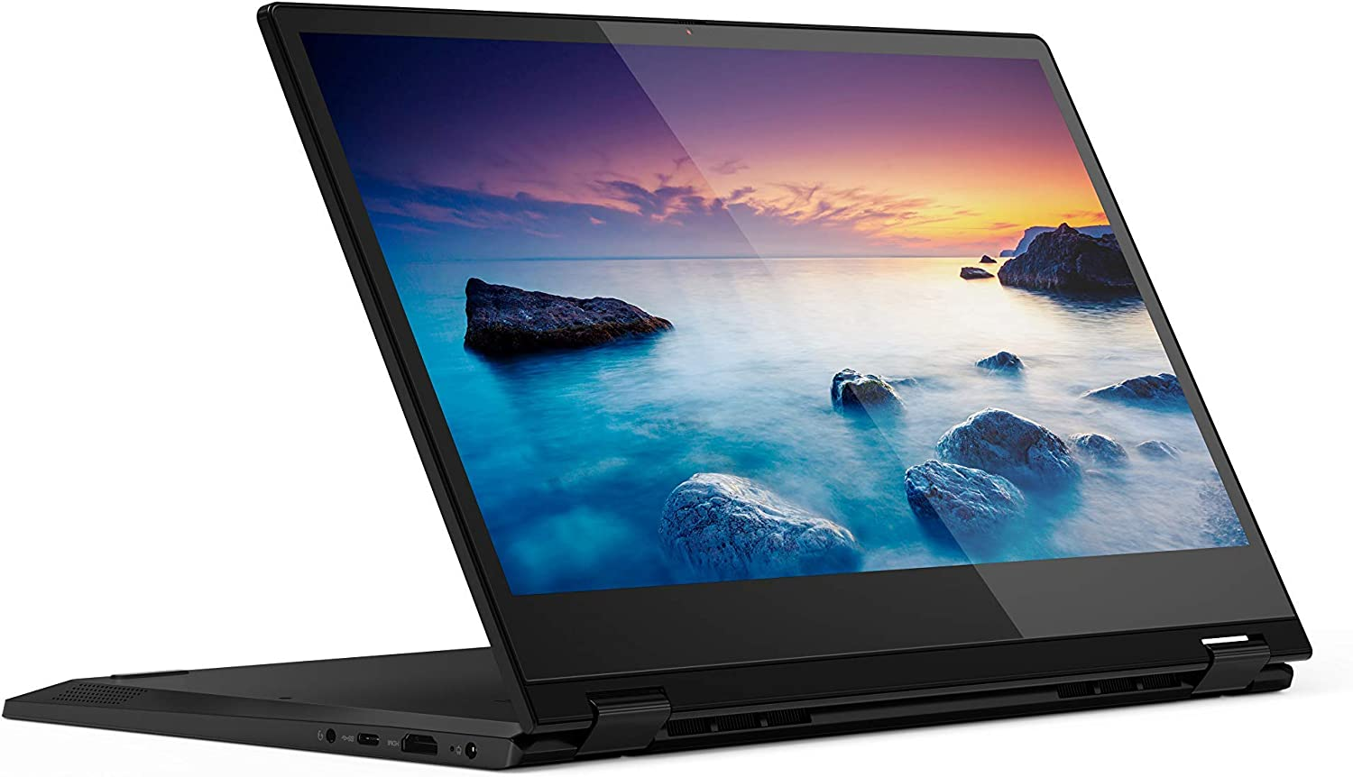 "Lenovo Flex 14 Convertible Laptop, 14"" FHD (1920 X 1080) Touch Display, Intel Core I5-8265U Processor, 8GB DDR4 RAM, 128GB SSD, Intel UHD Graphics 615, Windows 10, 81SQ0009US, Onyx Black (Renewed)"