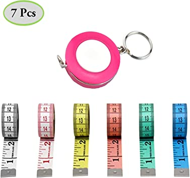 Tape Measure Retractable Measuring Tape for Cloth Body Measuring Tape Soft Ruler Tape for Sewing Tailor Fabric Measuring Tape
