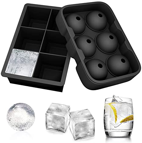 Amazon.com: Ouddy Moldes de silicona para cubitos de hielo ...