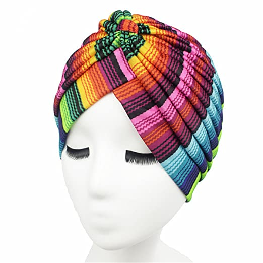 a66166c13ac Qhome Women s new Fashion Rasta Turban Indian Style Head Wrap Cap Hat Hair  Cover Headband Various