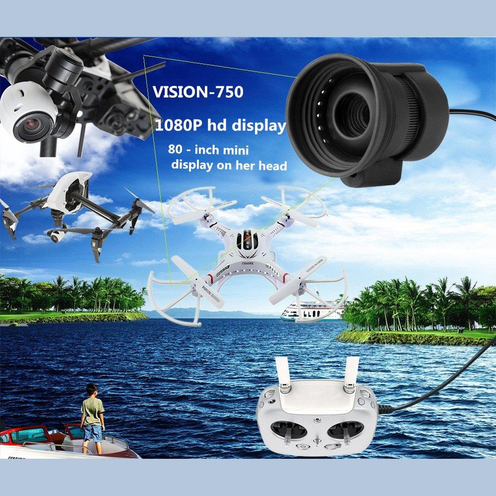 Semoic 80 inch Monocular Mini Micro-Display HD Night Vision with Headband Goggles AV Series for FPV Monitor by Semoic (Image #2)