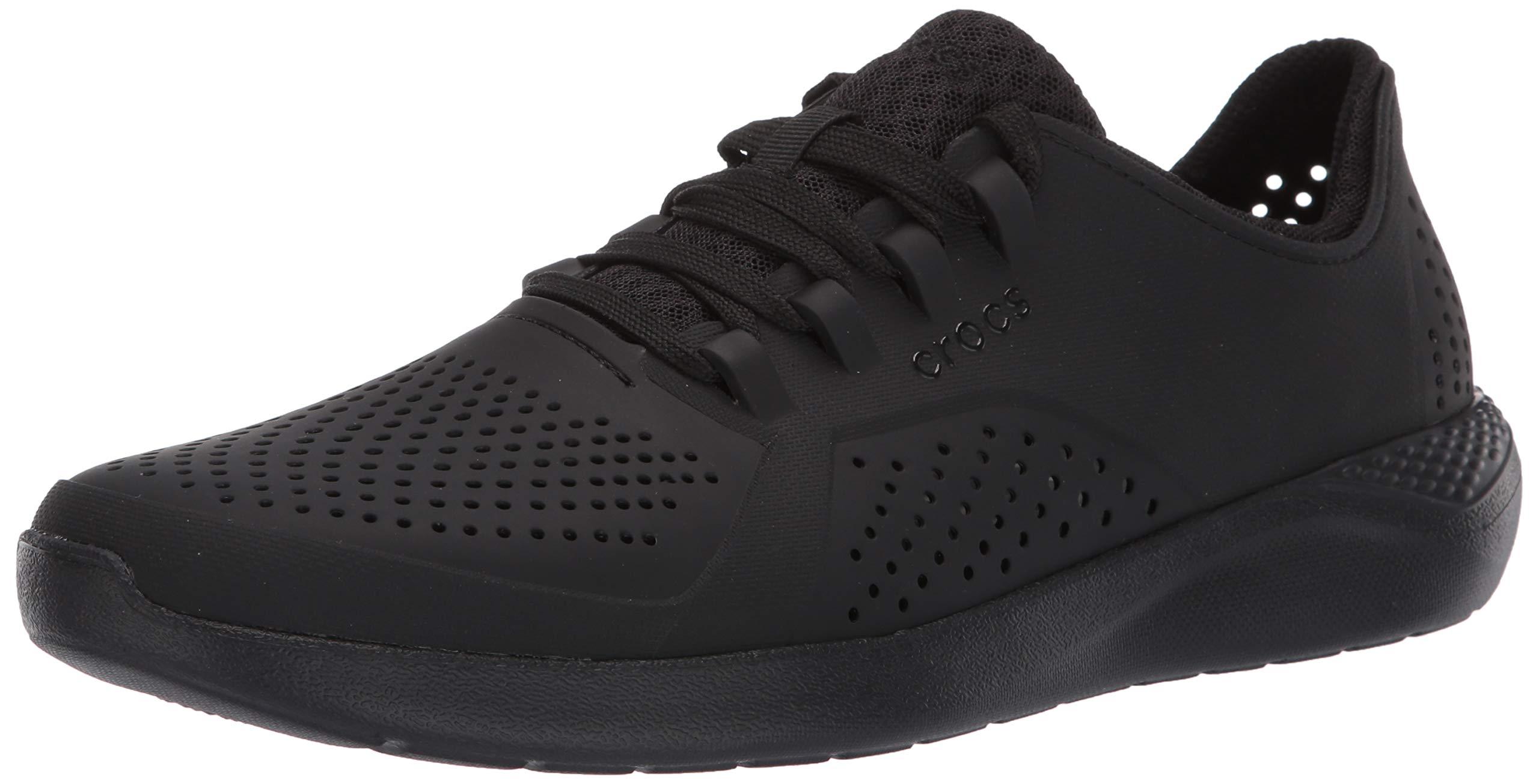 Crocs Men's LiteRide Pacer Sneaker, Black, 10 M US by Crocs