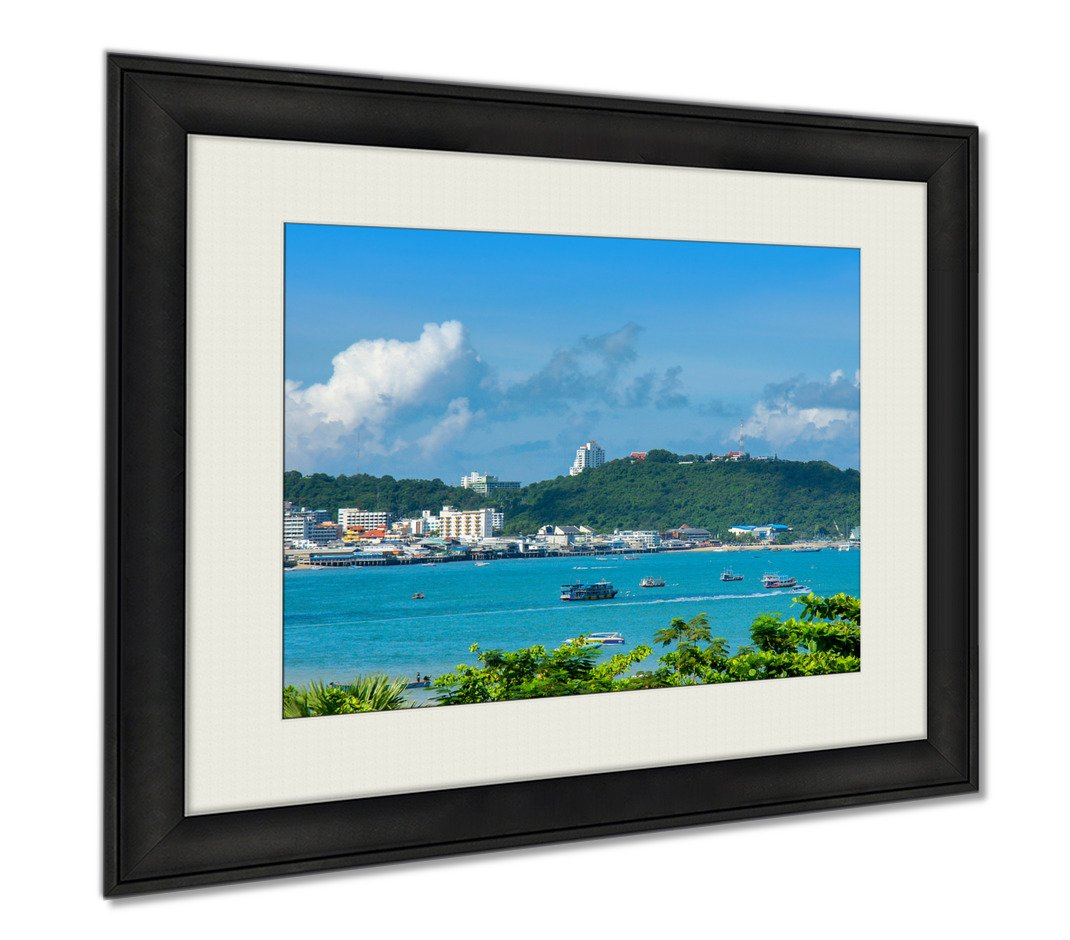 Ashley Framed Prints Pattaya Beach Landscape Chonburi Eastern Of Thailand, Wall Art Home Decoration, Color, 26x30 (frame size), AG5892055 by Ashley Framed Prints