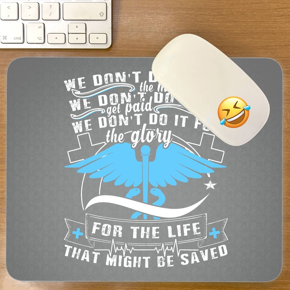 Amazon.com: We Do It For The Life Mouse Pad, That Might Be Saved great gift idea Mousepad(Mouse Pad - Black): Clothing