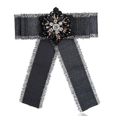 Broche de corbata de copo de nieve, broche de corsé de lazo ...