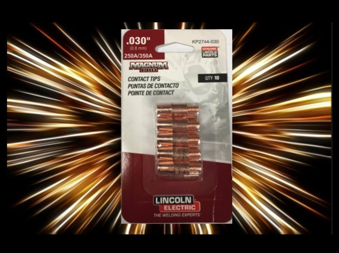 Lincoln Electric Magnum Pro Contact Tips .030' 250A/350A - qty10 - KP2744-030