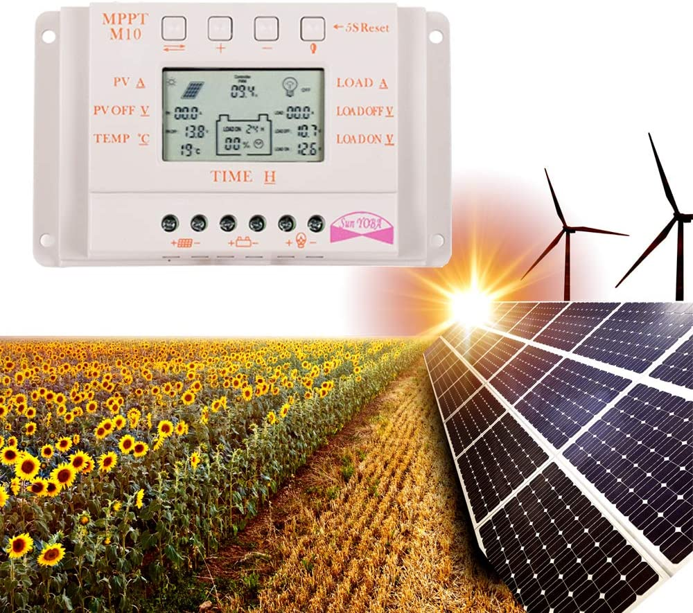 M20A OOYCYOO 20A Solar Charger Controller 12V//24V with LCD Display