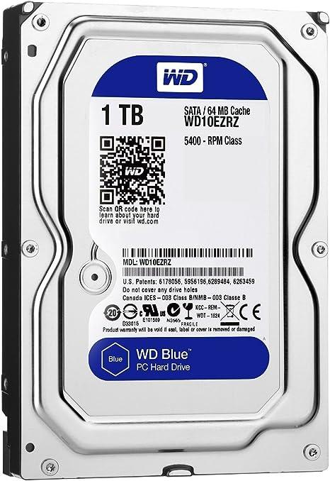 WD Blue - Disco Duro para Ordenadores de sobremesa de 1 TB (5400 ...