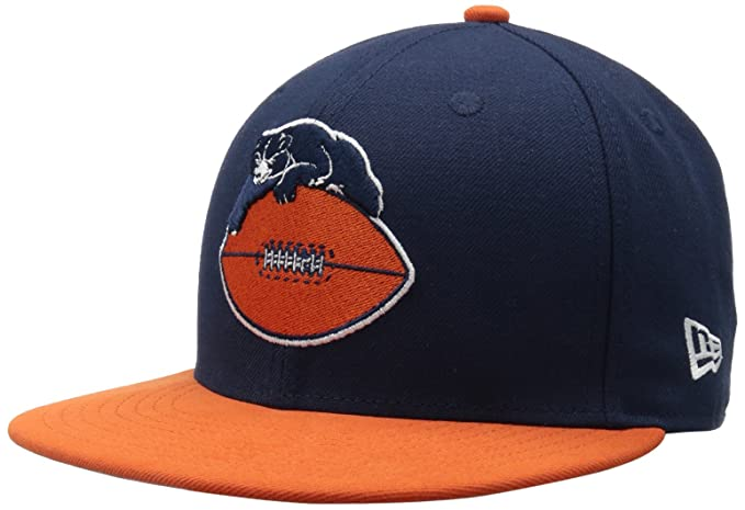 buy online f5f41 389ef Amazon.com   NFL Chicago Bears Historic Logo 59Fifty Fitted Cap, Blue Orange,  6 7 8   Sports Fan Baseball Caps   Clothing
