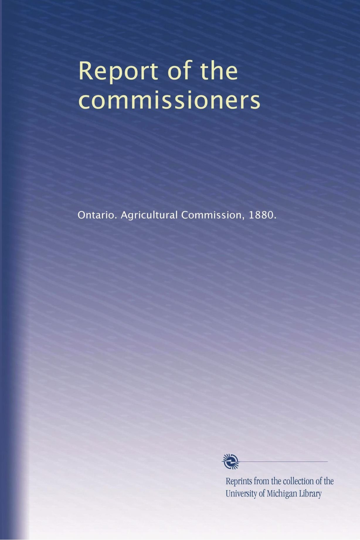 Download Report of the commissioners ebook