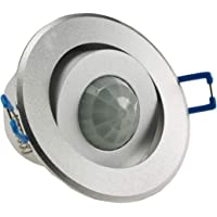 Bewegingsmelder 360° voor plafond en muur inbouw-bewegingsmelder draaibaar 8m bereik Ø68mm inbouw 230V inbouw PIR-sensor…