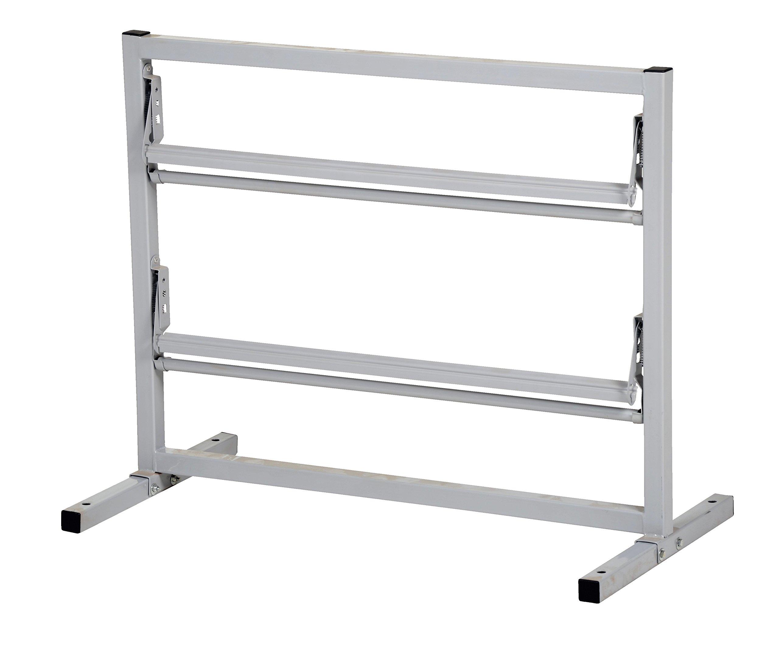 Vestil PDS-2-48 2 Tier Paper Dispenser Stand, 48'' Roll Width, Steel, 53'' Width, 27.375'' Height