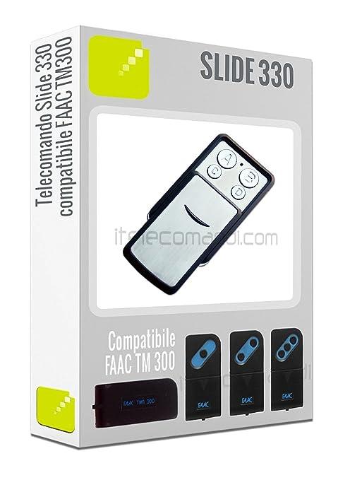 93 opinioni per Telecomando Slide330- 4 tasti 330 Mhz) compatibile con tutta le serie Faac TM300