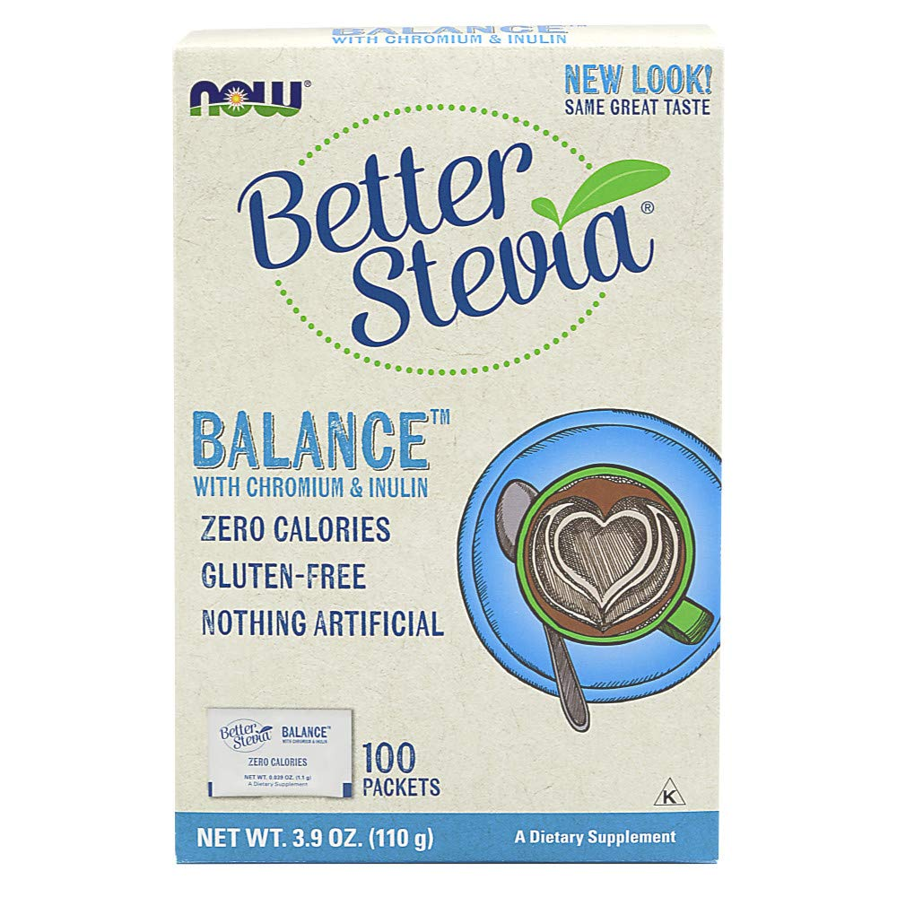 NOW Foods Stevia Balance,100 Packets