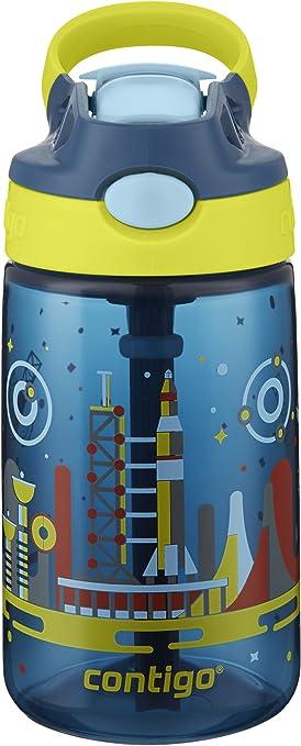 environ 396.89 g set Lys /& Solid Bleu Contigo Autospout Striker Enfants Paille Bouteille d/'eau 14 oz