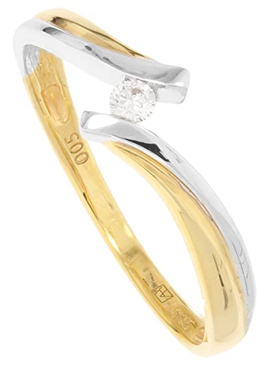 8a6ef4752400 MyGold Mujer Anillo de compromiso oro amarillo oro blanco blanco oro ...