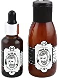 The Man Company Oil for Beard Moustache and Mooch Growth - 30 ml (Almond and Thyme) with Beard Wash - 100 ml