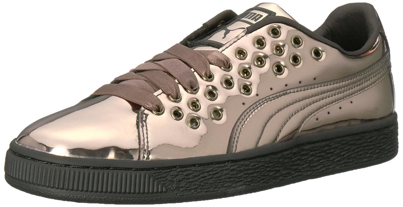 PUMA Women's Basket XL Lace Metal Wn Sneaker B01MSZLY5V 8 M US|Puma Black-puma Black