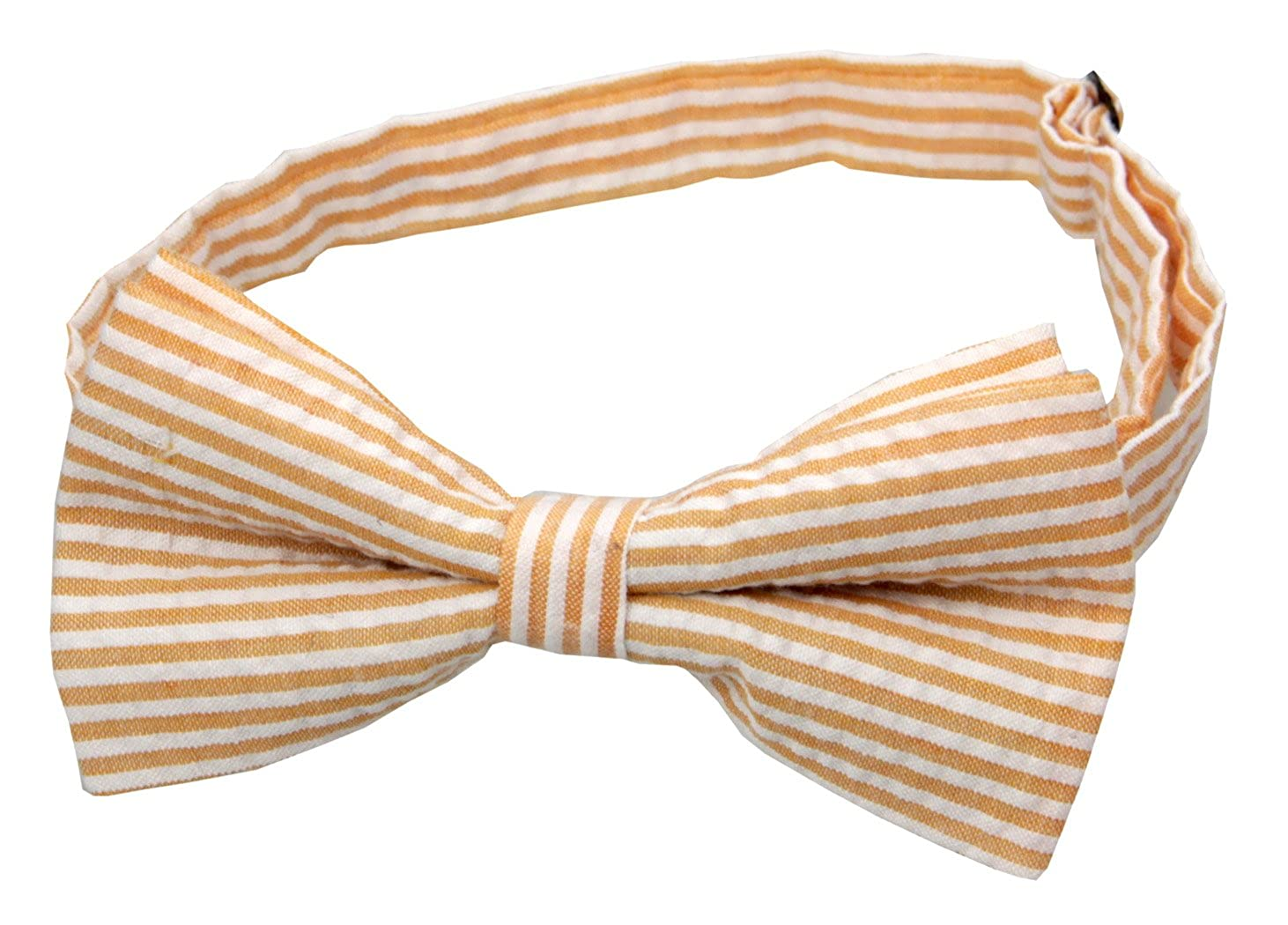 100/% Cotton Seersucker Mens Pretied Bowtie /& Pocket Square Set