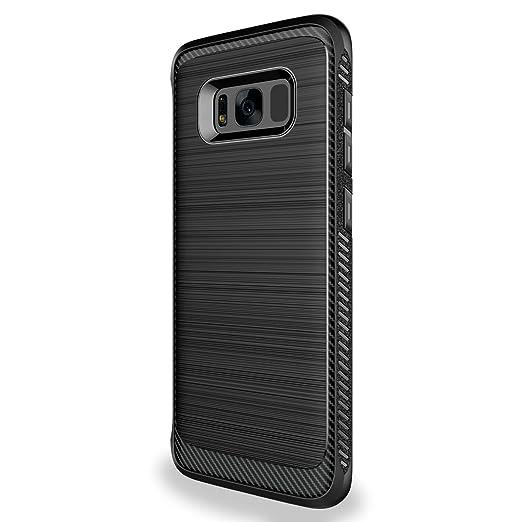 21 opinioni per Custodia Galaxy S8 Cover Nero , Leathlux Morbido Silicone Custodie Samsung S8
