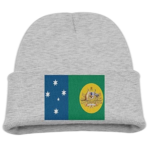 682504b86366c3 Amazon.com: ZWZ New Australian Flag Kid's Hats Winter Funny Soft Knit  Beanie Cap children Unisex: Clothing
