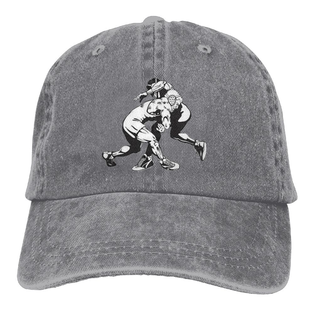FBGVFD USA Wrestling Logo Baseball Caps Fashionable Top Level Cowboy Hat for College Students