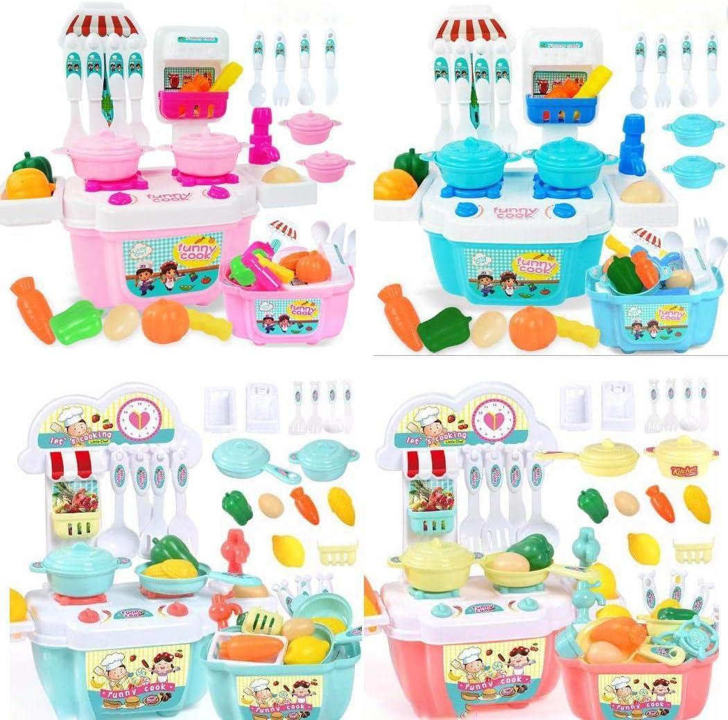 Lieja Kit dimitazione per Bambini Cucina da Cucina Finta Gioca a Set di Giocattoli educativi per Bambini Giocattoli Prima Infanzia