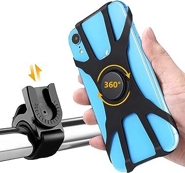 HOMPO Universal Soporte Movil Bicicleta, Soporte Desmontable Manillar de Silicona con Rotación 360 para iPhone, Samsung y Otros Dispositivos: Amazon.es: Electrónica