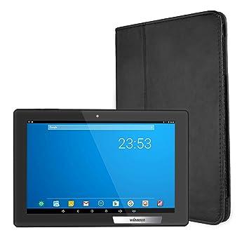 Tablet 10.1 pulgadas Android WiFi - Winnovo MiTab Pro Ocho Núcleos Tablet PC con funda de cuero para protege 32GB ROM 2GB RAM Cámara doble 6000mAh Batería ...