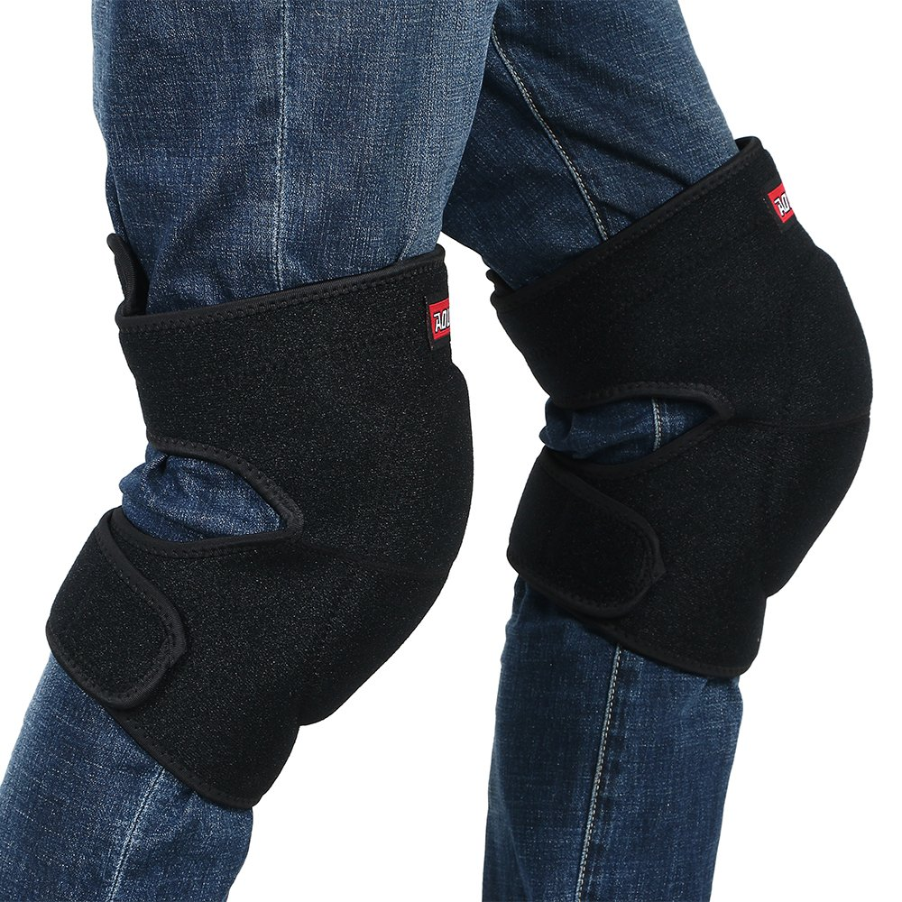 Ludus Felix ひざ当てパッド ひざサポーター 膝当て ひざパッド ヒザプロテクター ひざパット 作業用 両膝セット