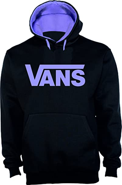 xl Ropa Sudadera Vans Logo Amazon Violet Y Negra es Replica UvfX8vq6
