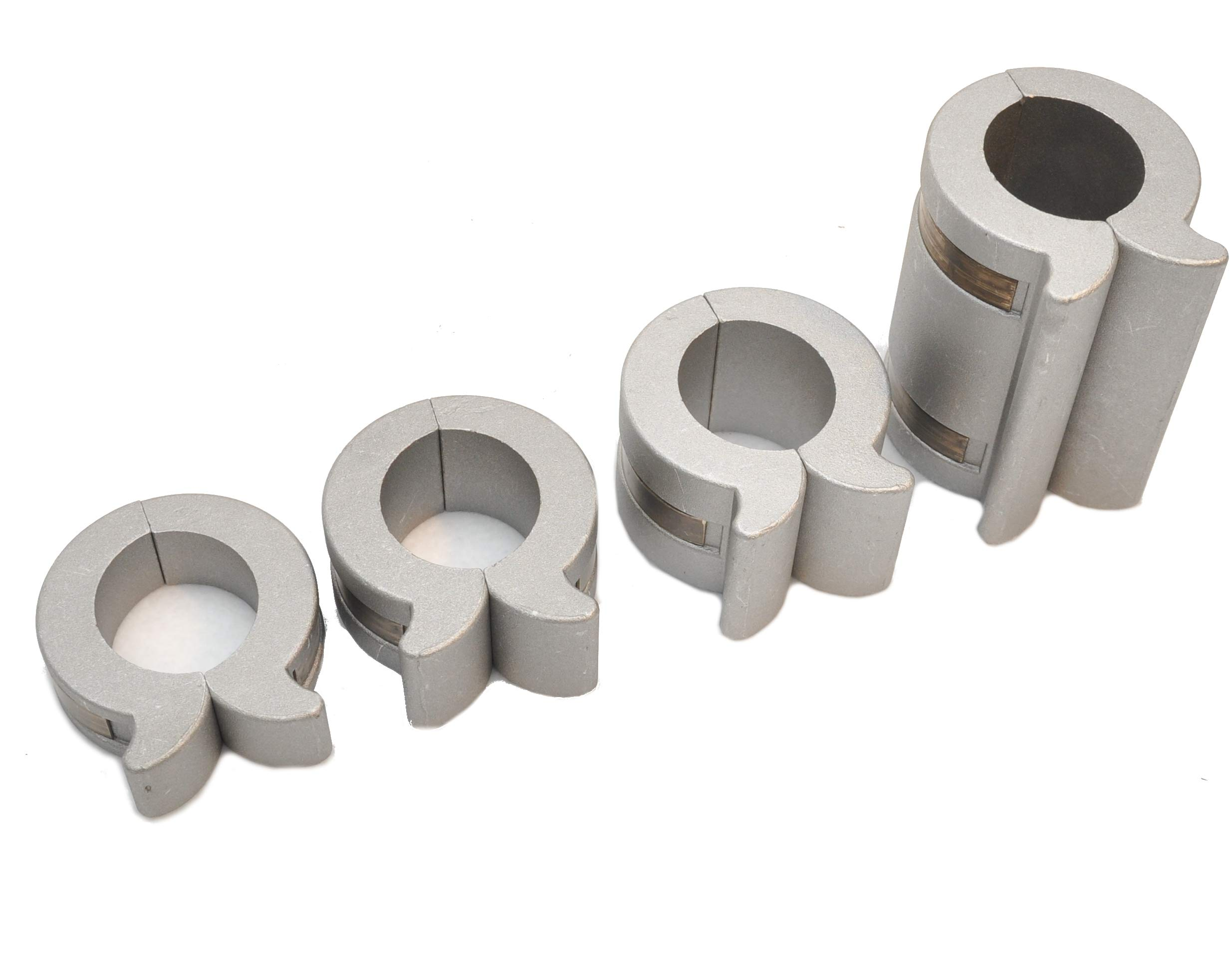 8.5'' 4 Piece Set of Hydraulic Cylinder Stroke Reducer Control Blocks for 1.75'' to 2'' Rods