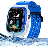 Themoemoe Kids GPS Watch, Kids Smartwatch with GPS Tracker Waterproof Phone Smartwatch 1.44 SOS Touch Screen Flashlight…