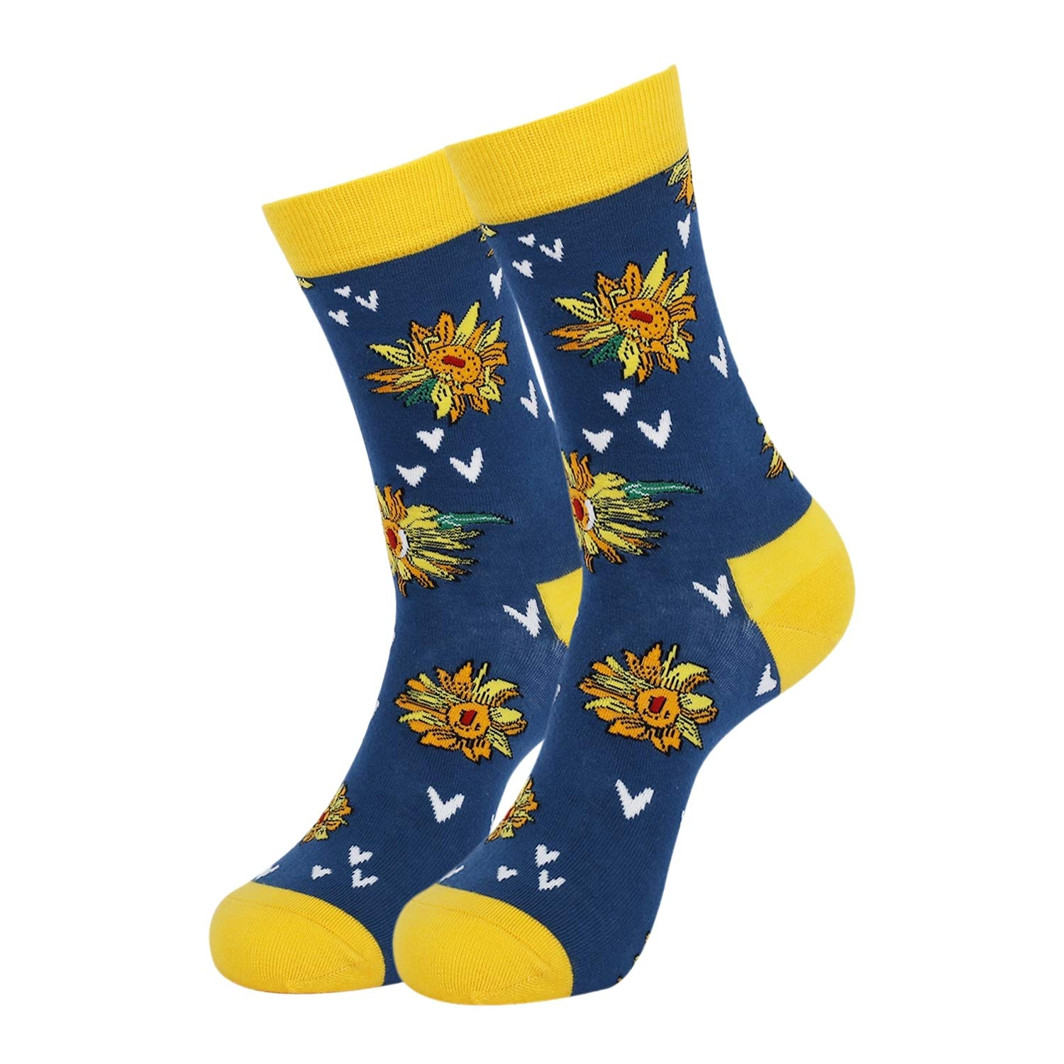 Beautiful socks with sunflowers
