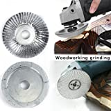 Grinder Wood Tungsten Carbide Grinding Wheel Sanding Carving Tool Abrasive Disc for Angle(85MM/3.3IN) (White Silver) (Color: White silver)