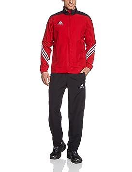 buy popular 0fb57 0265e adidas Sere14 PRE Suit - Chándal de fútbol para hombre, color rojo negro