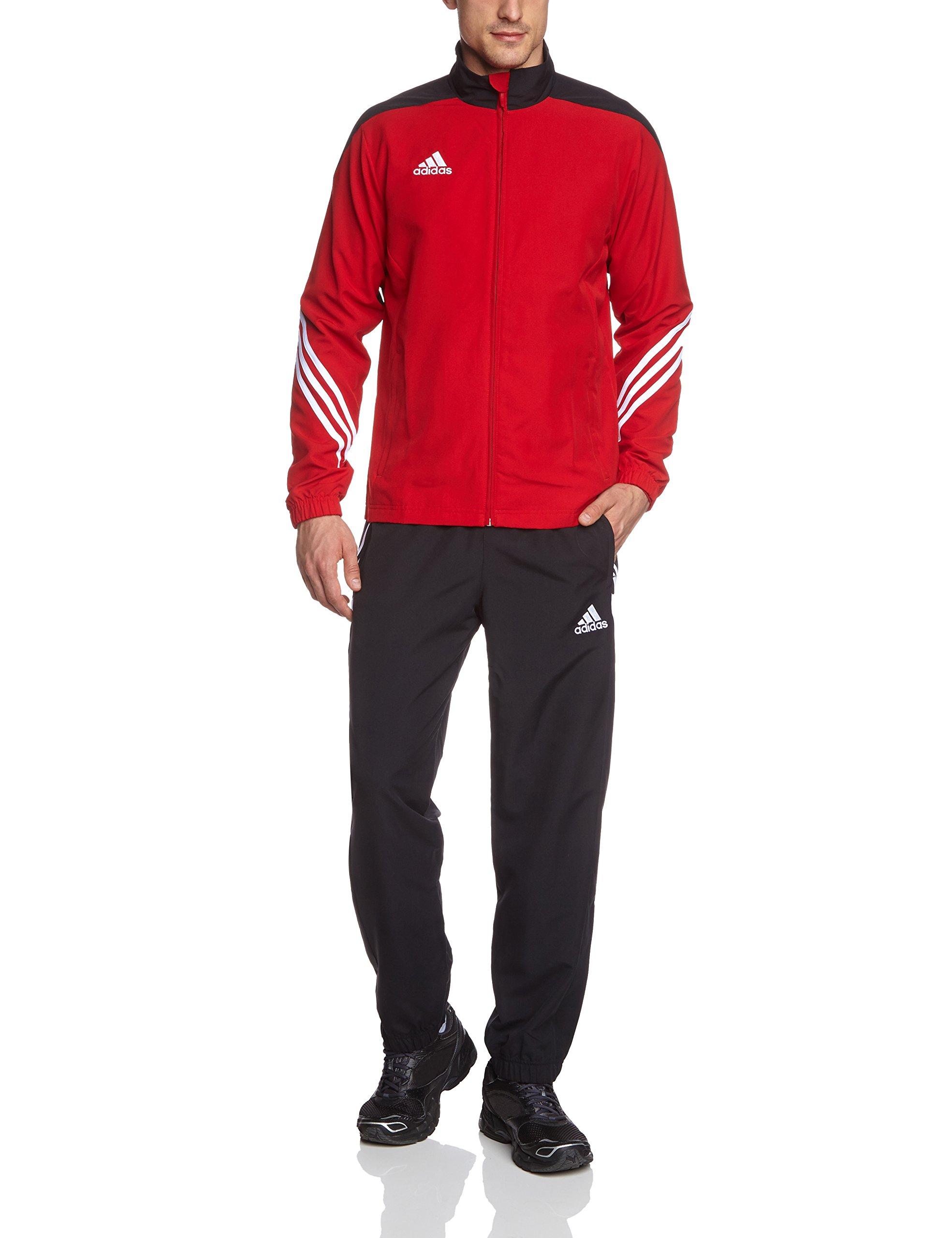 buy popular a34a2 08e6a adidas Sere14 PRE Suit - Chándal de fútbol para hombre, color rojo negro