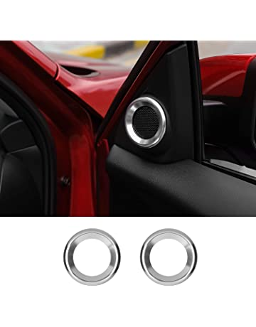 Thenice for 10th Gen Civic A-Pillar Loudspeaker Decorations Circle Rings, Anodized Aluminum Car