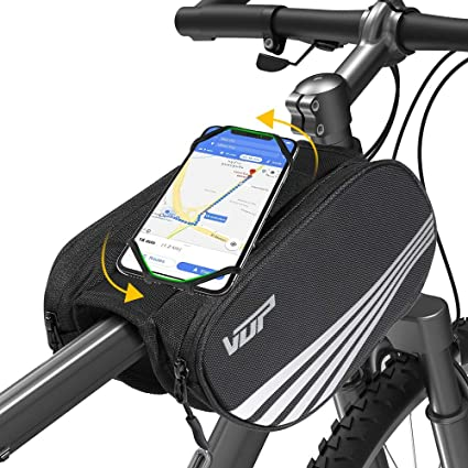 Amazon Com Vup Bike Front Frame Bag Universal Bicycle Motorcycle Handlebar Bag Top Tube Bike Bag With 360 Rotation Cell Phone Holder For Iphone 11 Pro Xs Max Xr X 7 8 Plus Galaxy S9 8 7 6 Note Nubia Huawei