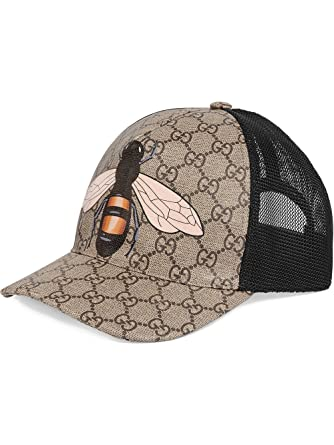 Gucci - Casquette de Baseball - Homme Marron Marron Medium  Amazon ... ad071933fe4