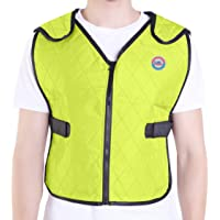 Climafusion Cooling Vest for Women & Men Adjustable Ice Vest Breathable Comfort Psyctic Vest Gear for Women & Man for Fishing Cycling Running Cooking Wearer Stays Cool and Dry(M/L, Green)